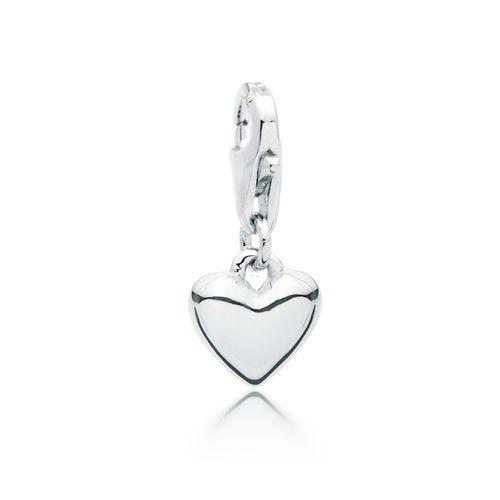 Petite Droplet Heart Charm