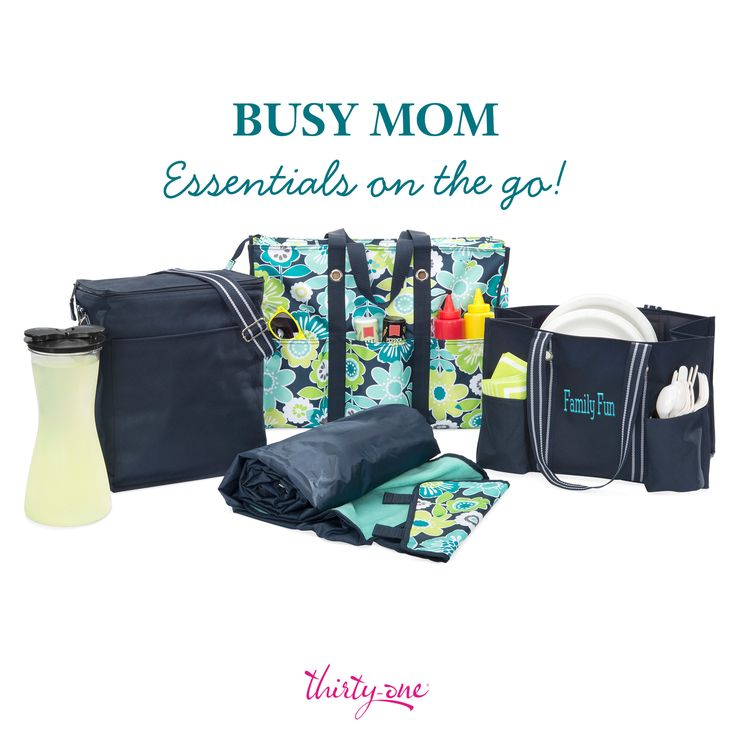 The Organizing Utility Tote and Super Organizing Tote each have seven pockets, which gives mom plenty of places to stash everything she needs for a busy day. We're definitely loving this set!
