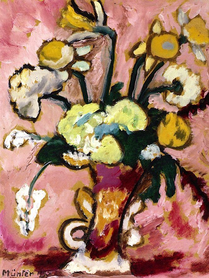 ❀ Blooming Brushwork ❀ - garden and still life flower paintings - Floral Still LIfe Gabrielle Münter - 1935