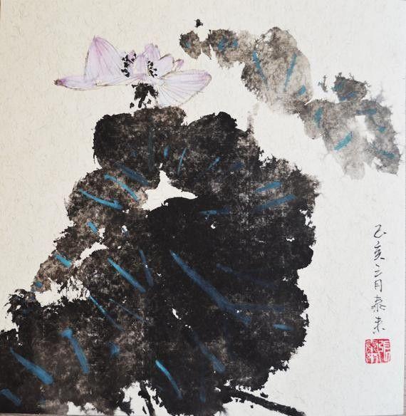 Lotus Chinese Painting Wall Art Chinesische Und Japanische