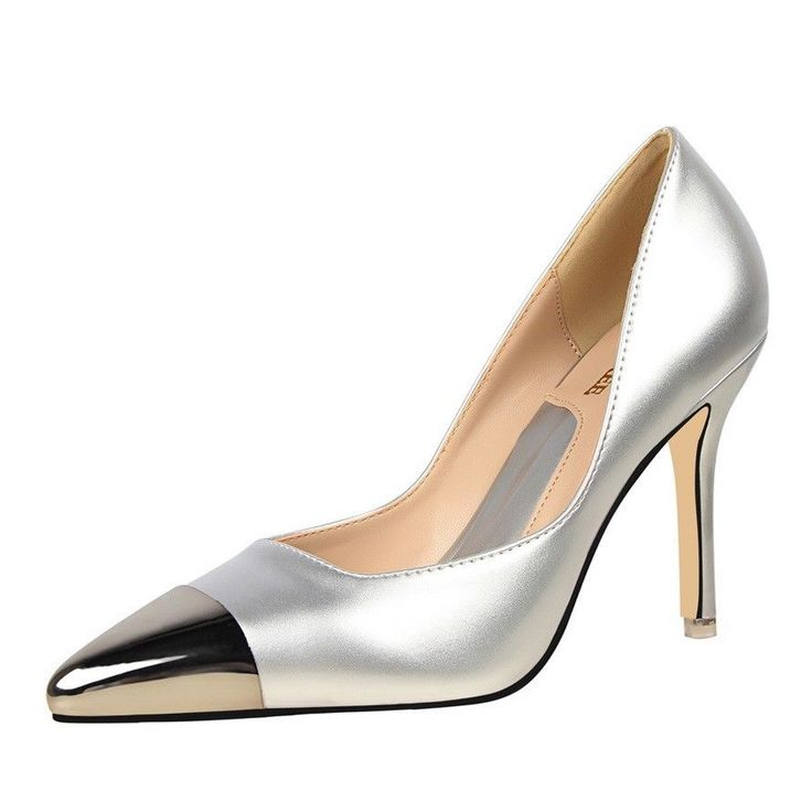 New Women's Formal Shoes Pointed Metal Toe High Slim Heel Elegant Shoes Pumps #Unbranded #PumpsClassics #Formal