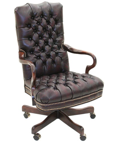 Old Hickory Tannery Leather Office Chair