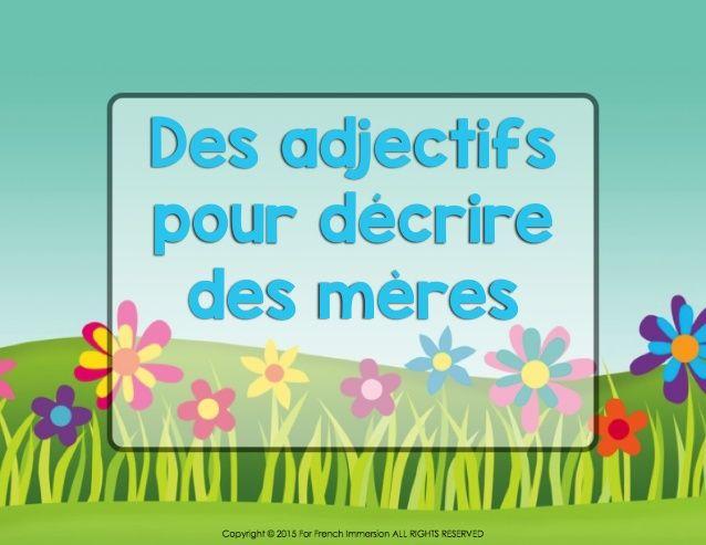 French Unscramble the Adjectives - la fête des mères
