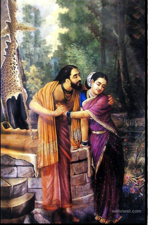 25 Best Raja Ravi Varma Paintings - 18th Century Indian Traditional Paintings. Read full article: http://webneel.com/25-best-oil-paintings-raja-ravi-varma-18th-century-indian-traditional-paintings | Follow us www.pinterest.com/webneel