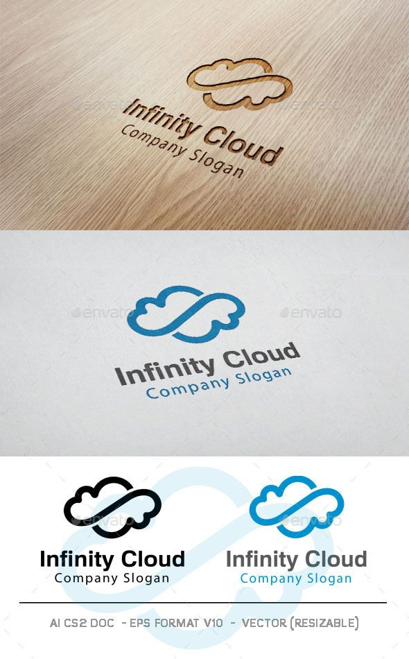 Infinity Cloud Logo Template PSD, Vector EPS, AI. Download here: http://graphicriver.net/item/infinity-cloud-logo/11100566?ref=ksioks