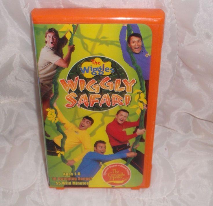 The Wiggles VHS Wiggly Safari Crocodile Hunter Steve Irwin Video Tape Movie