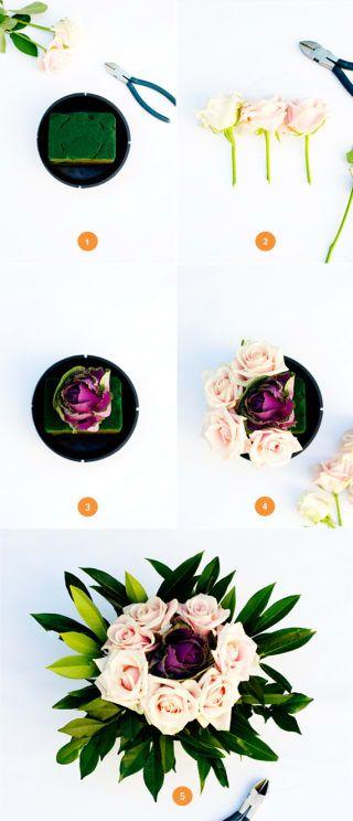 No necesitas ninguna experiencia en arreglos florales para crear estos centros de mesa sencillos pero impresionantes. La mejor parte: puedes hacerlos un par de días antes .