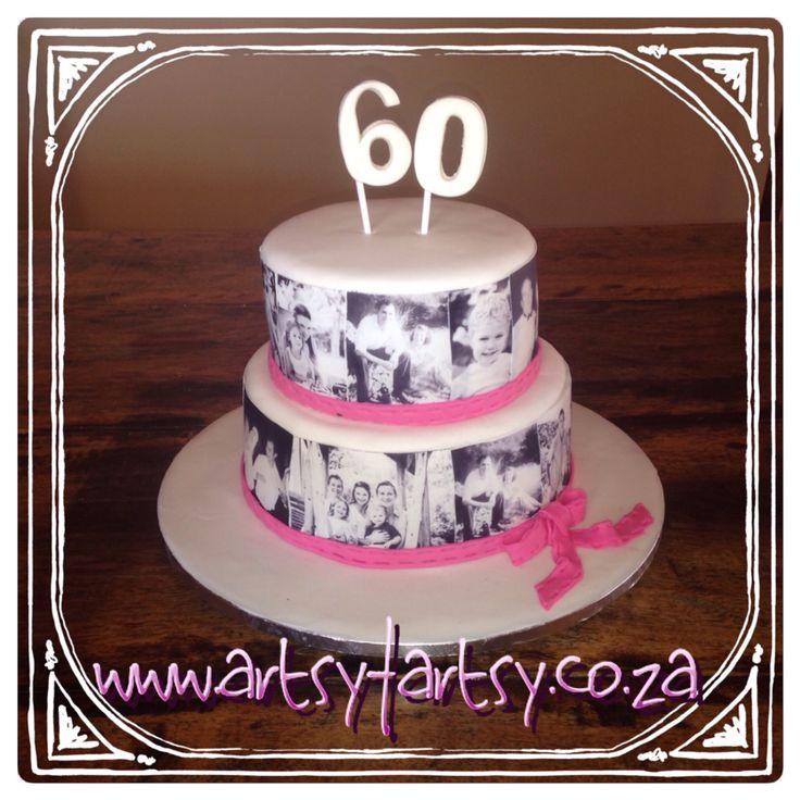 60th Photo Album Cake #fotoalbumcake