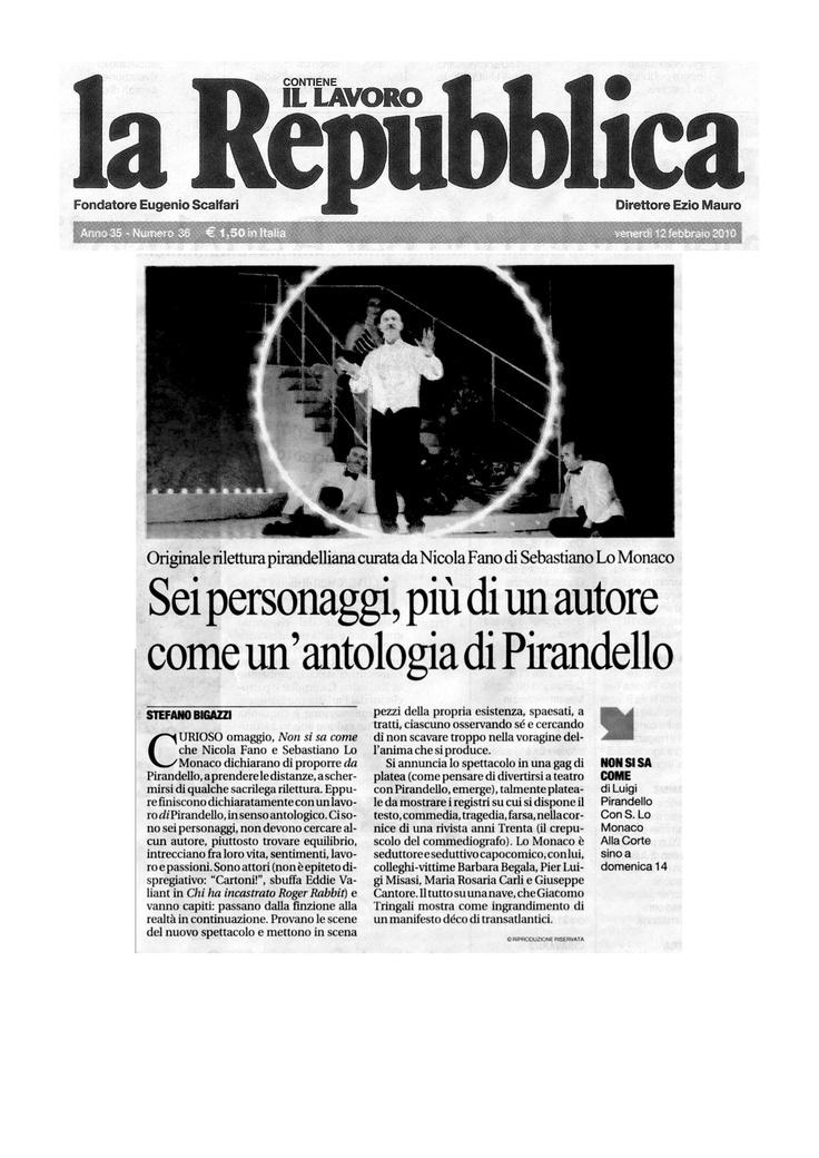 12 febbraio 2010 - La Repubblica -