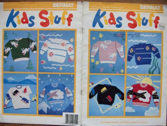 vintage bernat knitting patterns no. 704 KIDS by GransTreasures, $8.00