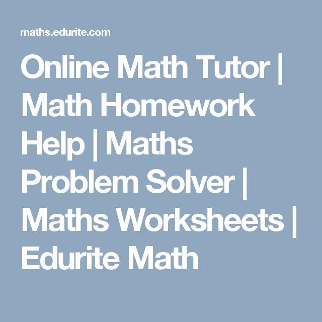 The 8 best Math Solver images on Pinterest   Math solver, Math help ...