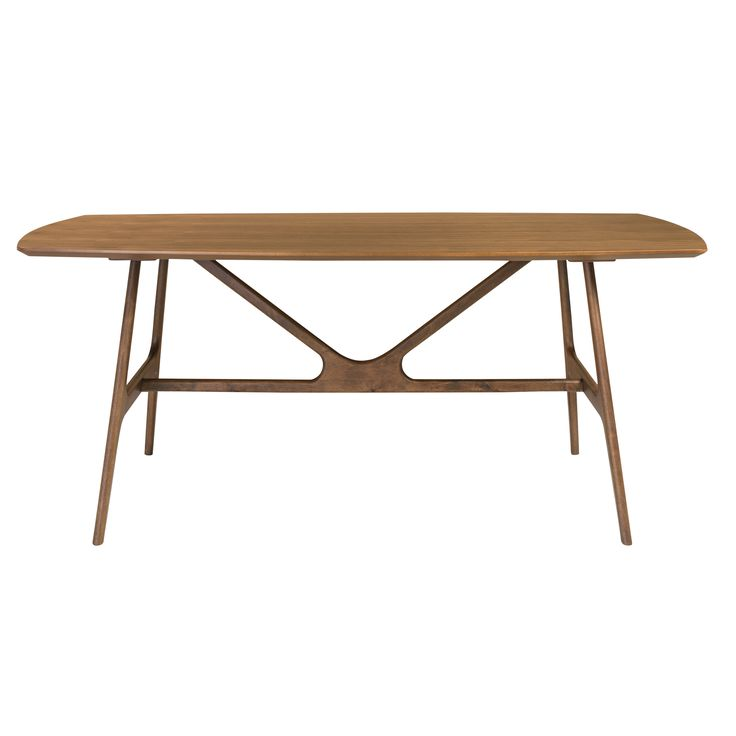 Travis Rectangle Dining Table in American Walnut 71""