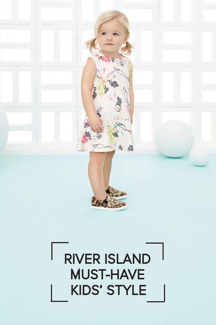 Just in for spring 2016, this kids-sized beige floral print dress is the perfect addition to your little girl's wardrobe as the weather gets warmer. She'll love running around in this sweet outfit from River Island Kids.