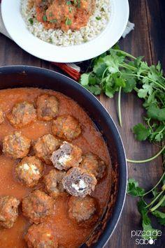 Albóndigas con salsa de tomate y chipotle | http://www.pizcadesabor.com/2014/05/21/albondigas-con-salsa-de-tomate-y-chipotle/