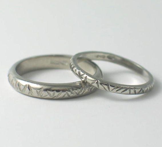 Palladium Line Textured Wedding Rings. www.fluidity-design.co.uk
