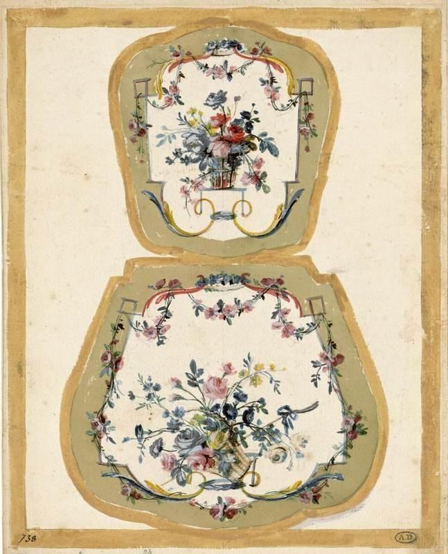 [Modèle de tapisserie pour une chaise] | Centre de documentation des musées - Les Arts Décoratifs