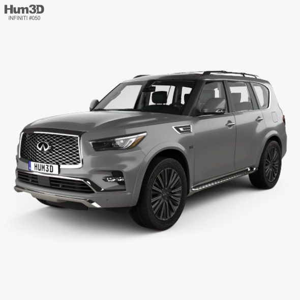 Infiniti Qx80 Limited With Hq Interior 2019 Fully Editable And Reusable 3d Model Of A Car 3d 3dmodel 3ddesign 2019 2022 5 Door In 2020 Car Infiniti Car 3d Model
