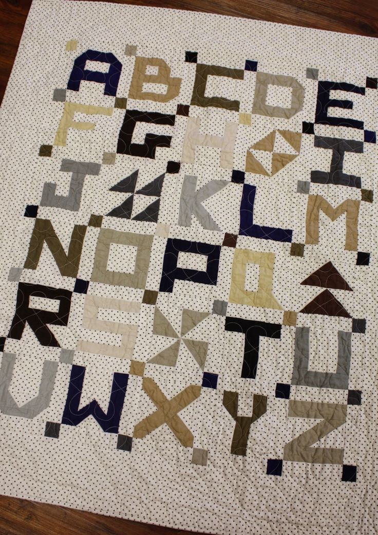 234 best A B C D..... images on Pinterest Alphabet quilt, Baby quilts and Alphabet letters