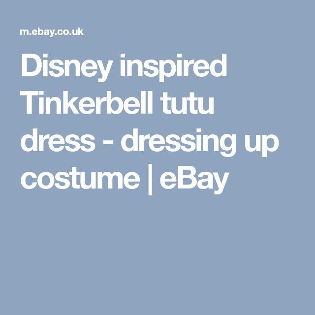 Disney inspired Tinkerbell tutu dress - dressing up costume | eBay