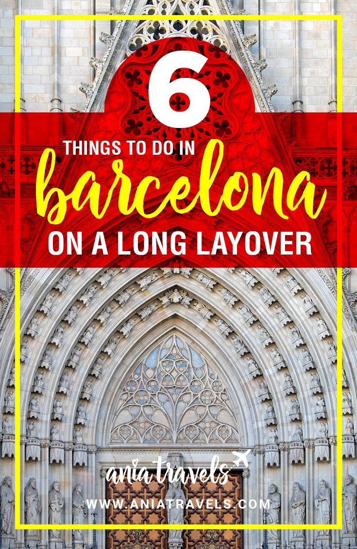 Barcelona is a gorgeous city with many fun things to do. Barcelona is also a city that many people end up having a long layover at. So if you happen to have 8 or more hours to waste in Barcelona here are my 6 suggestions on things to do in Barcelona on a layover.   Barcelona   Spain   Europe   Layover