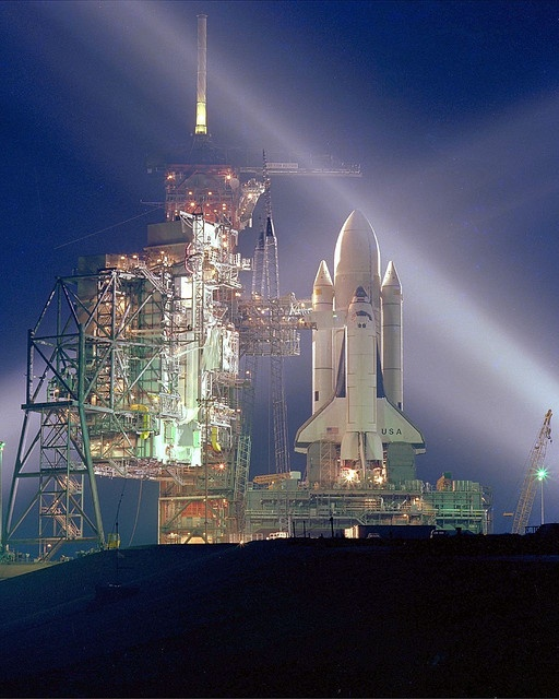 Space Shuttle STS-1 Boom Launch.... This is Houston. Blastoff in 3...2...1