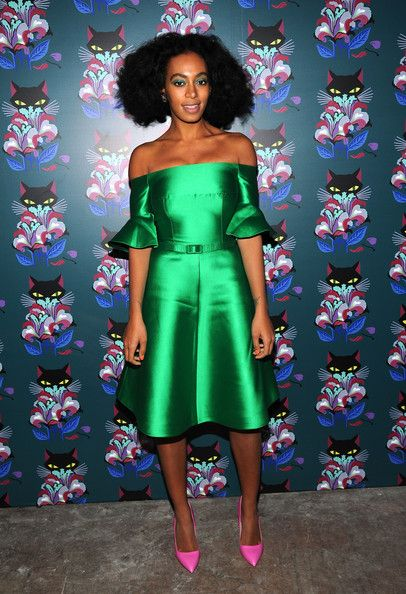 """Solange Knowles attends Miu Miu Women's Tales 7th Edition - """"Spark & Light"""" Screening - Arrivals at Diamond Horseshoe on February 11, 2014 in New York City."""