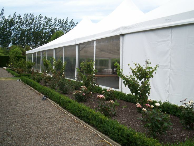 Marquee Exterior with Clear Walls