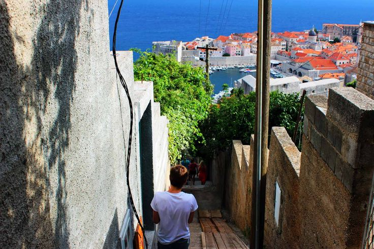 Stairs from the Grand View Apartment Dubrovnik.