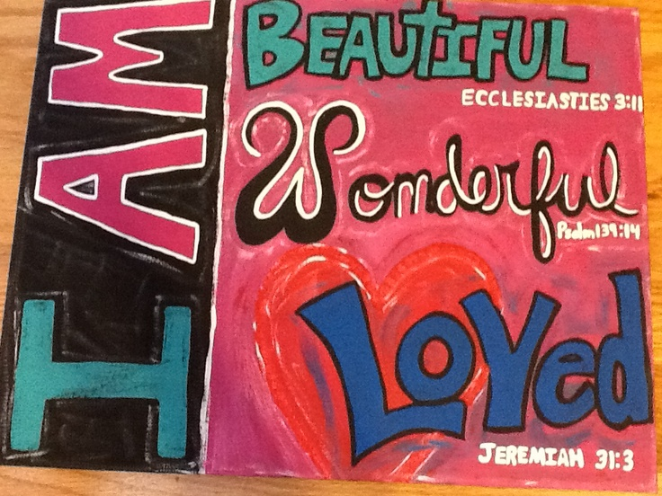 Canvas wall hanging Bible verses for girls