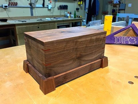 How to Build an End Table with a Secret Hidden Compartment Great Hand Gun Safe - YouTube