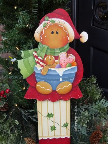 "#703 ""Christmas Ginger Porch Greeter""  (PATTERN)"