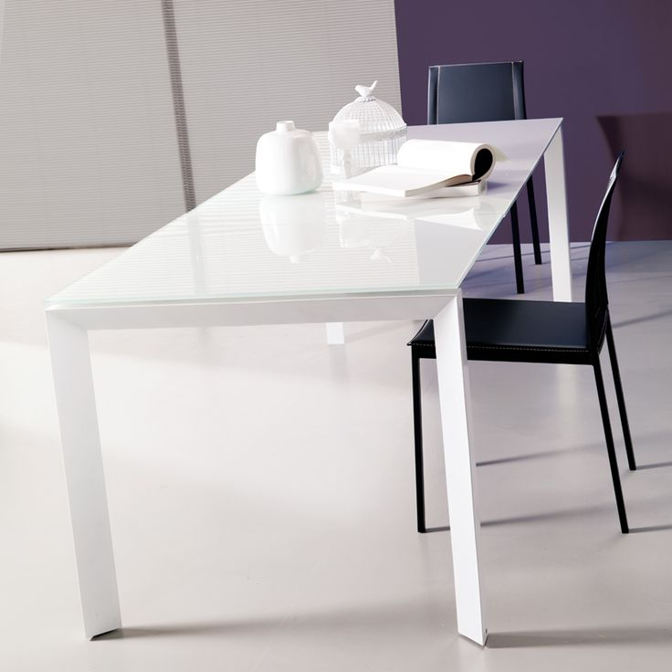 27 best images about dining tables on pinterest solid for Extendable glass dining table