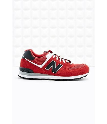 Urban Outfitters - New Balance 574 Trainers in Red