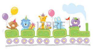 Resultado de imagen para tren con animales selva dibujo