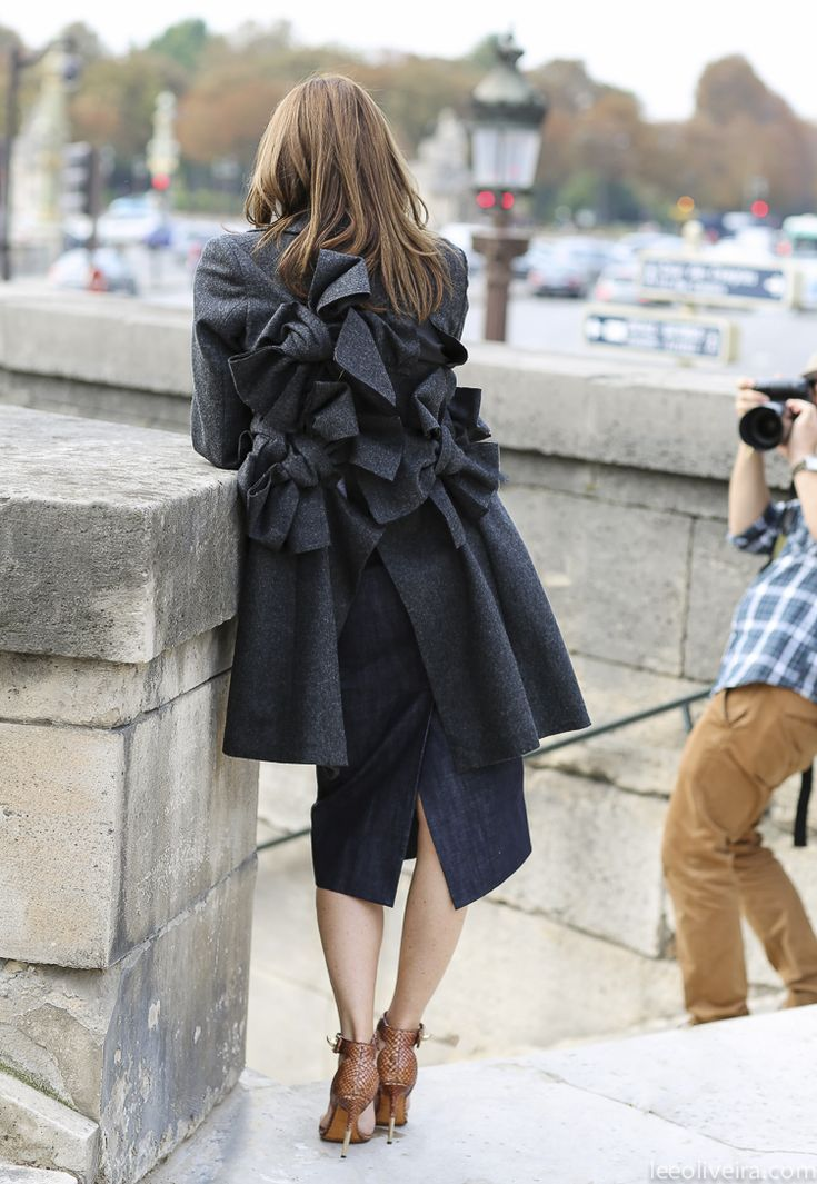 Carine Roitfeld in Comme des Garcons by Lee Oliveira at PFW