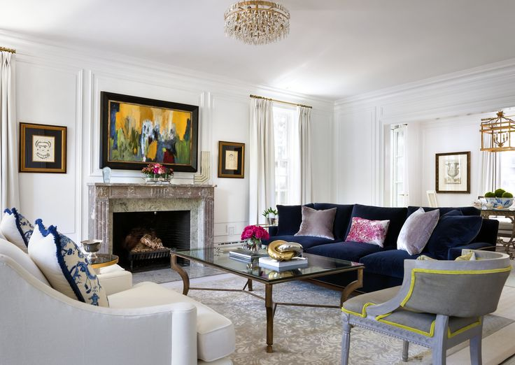 124 best decorating with navy blue images on pinterest for Classic traditional living rooms