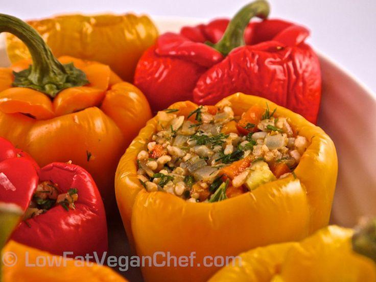 Greek Rice Stuffed Peppers [Vegan]   One Green Planet