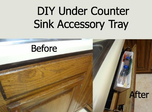 Follow these step-by-step instructions for your very own DIY under counter sink accessory try! If I can do it, so can you!