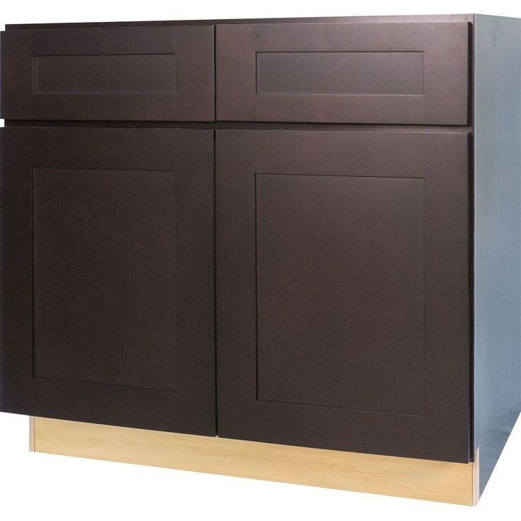 Everyday Cabinets 36-inch Dark Espresso Shaker Base