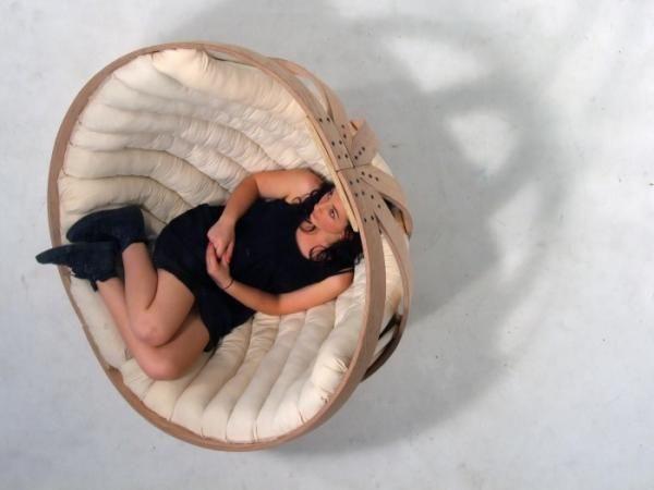 Richard Clarkson schommelstoel rond the cradle de wieg