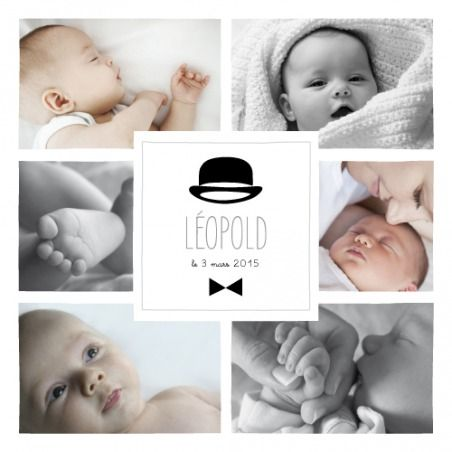 faire-part de naissance dandy 8 photos