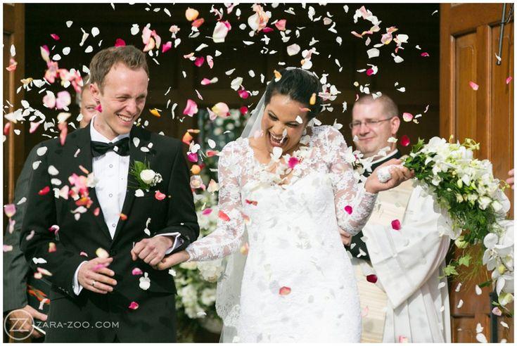 Wedding at La Residence, #Confetti photos, #petals