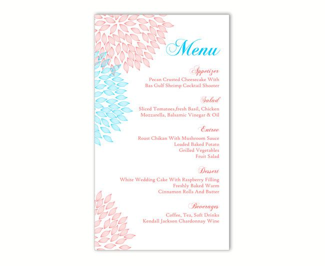 25+ beste ideeën over DIY menu cards template op Pinterest - menu templates free download word