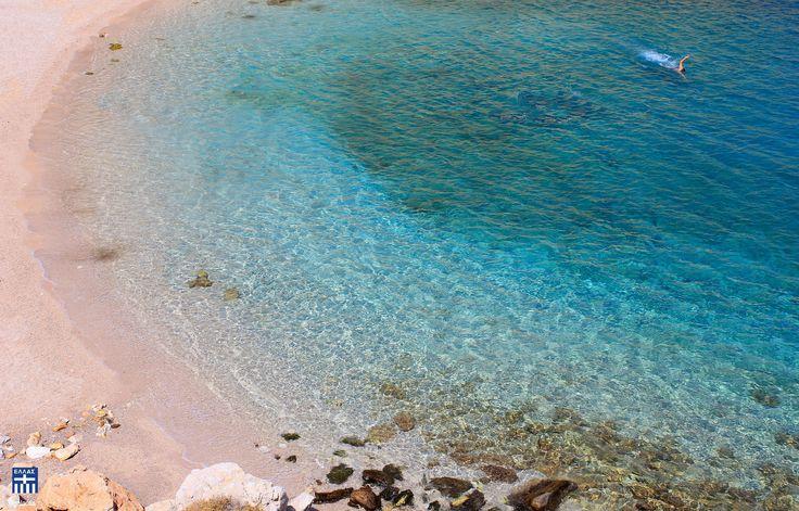Glari beach . Chios island