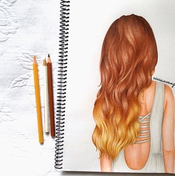 All I can say is Wow!!! Hair drawing from Vivian Wong pinterest: @kimwouters98