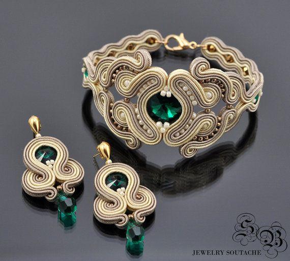 Set of bracelet and earringsSoutache от SBjewelrySoutache на Etsy
