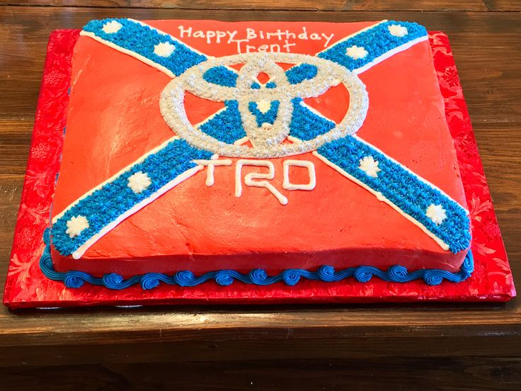 Toyota Rebel flag cake