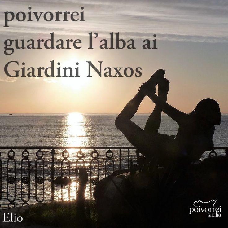 poivorrei guardare l'alba ai Giardini Naxos • • ️