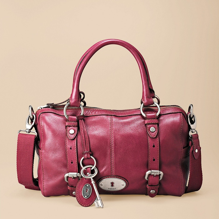 Maddox Satchel in Berry by Fossil. please? please? $198