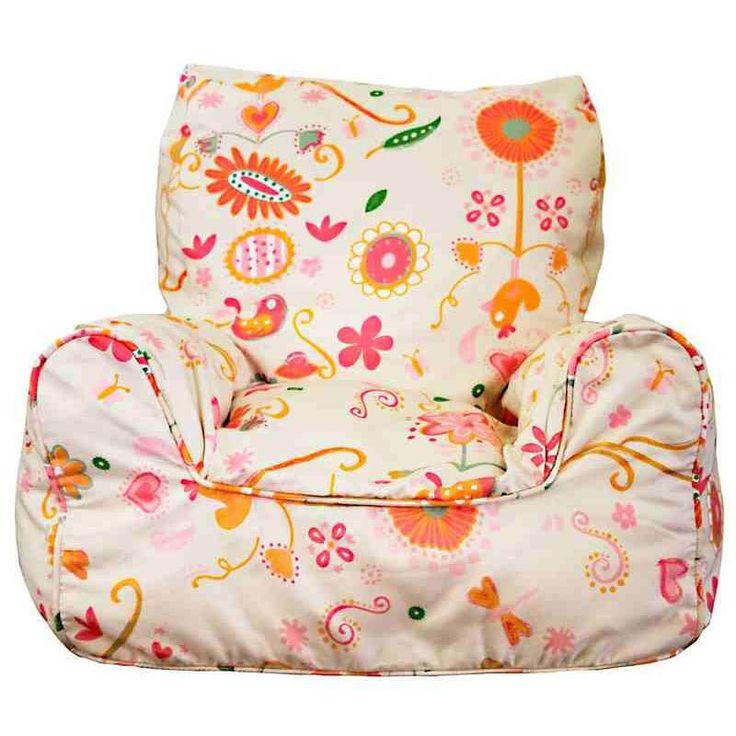 Lelbys- Kids Bean Bags-Bean Chair {Spring Posies}  $109.00 #limetreekids #toys #kids #play #lounge #beanbag
